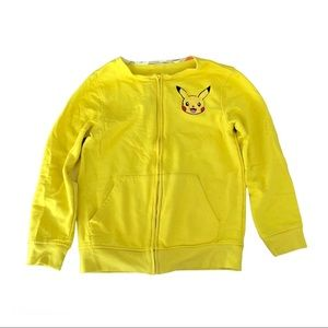 Pikachu Yellow Anime Sweater Zip Pokémon Top Youth